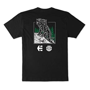 Etnies X Element Two Headed Wolf T-Shirt - Black