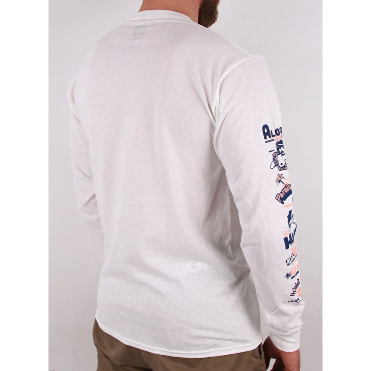 Huf Collage Long Sleeve T-Shirt - White