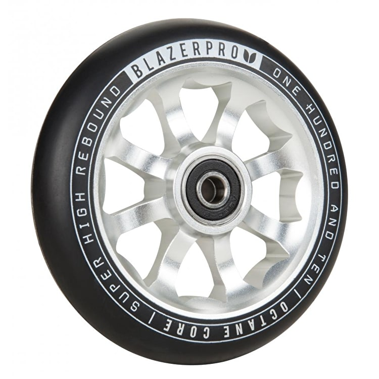 Blazer Pro Octane 110mm Scooter Wheel w/ABEC 9 Bearings - Silver