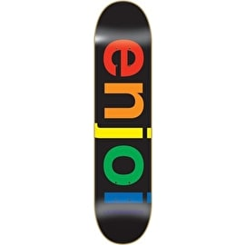 Enjoi Spectrum Skateboard Deck - Black 8