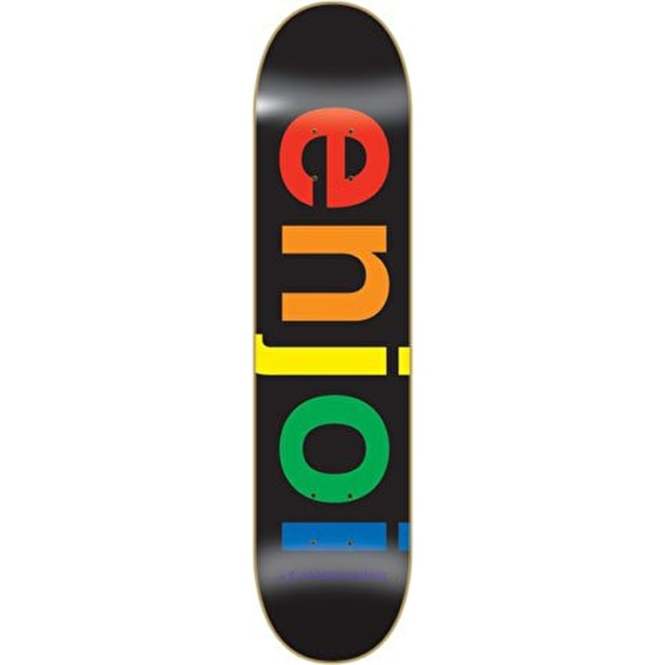 Enjoi Spectrum Skateboard Deck - Black 8""