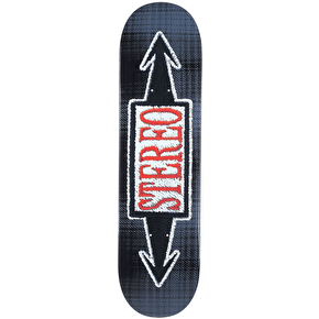 Stereo Stiched Arrows Skateboard Deck - Black 8