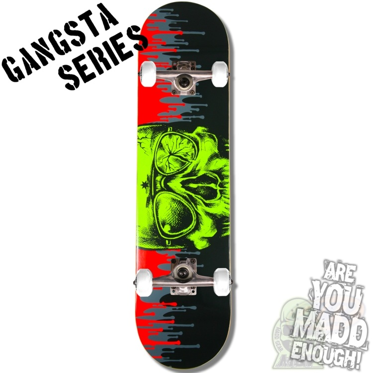 MGP Gangsta Series Complete Skateboard - Dripped 7.75""