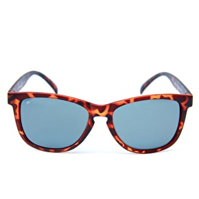 Happy Hour Fairway Polarized Sunglasses - Frosted Tortoise