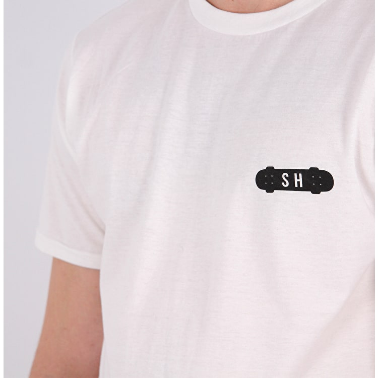 SkateHut SH X T shirt - White/Black