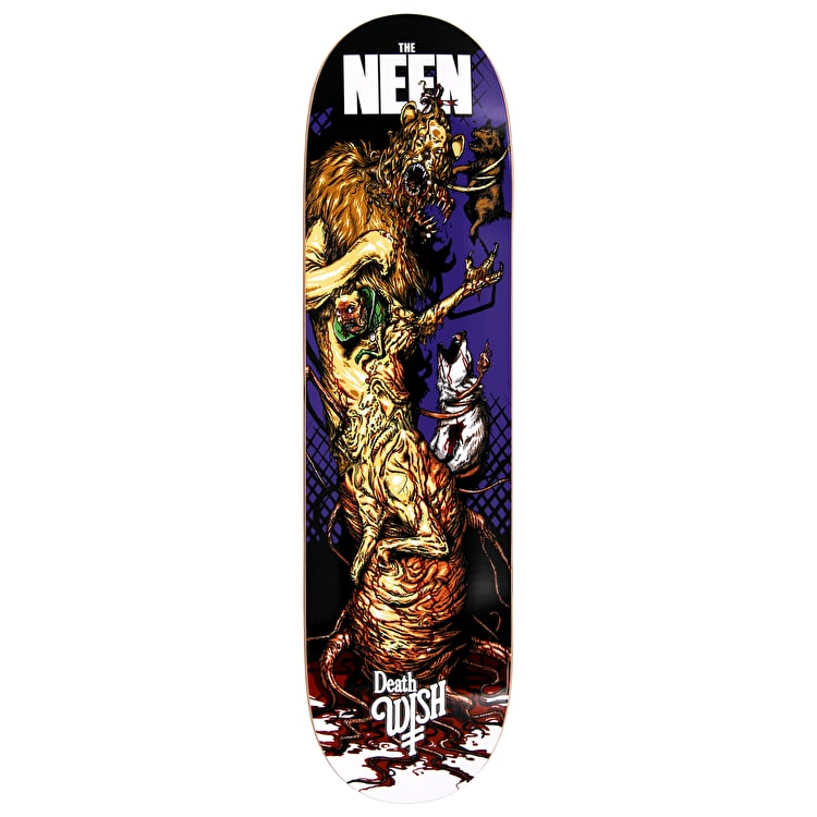 Deathwish Nightmare In Emerald Skateboard Deck - Neen  8.38""