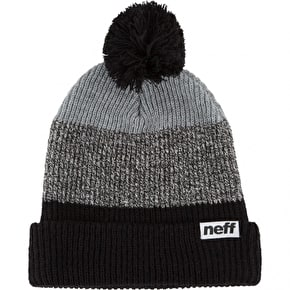 Neff Snappy Beanie - Black/White/Heather Grey