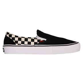 Vans x Thrasher Slip-On Pro Skate Shoes - Black/Checkerboard