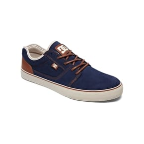 DC Tonik SE Skate Shoes - Navy/Camel