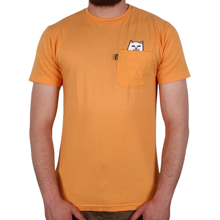 RIPNDIP Lord Nermal Overdyed T shirt - Orange
