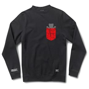 Grizzly Cement Pocket Crewneck - Black
