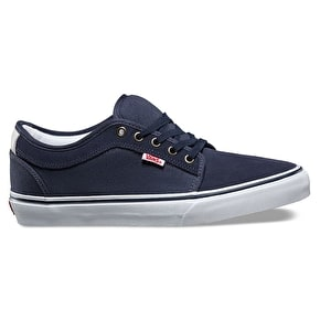 B-Stock Vans Chukka Low Skate Shoes - Parisian Night/White/Red UK 8 (Box Damage)