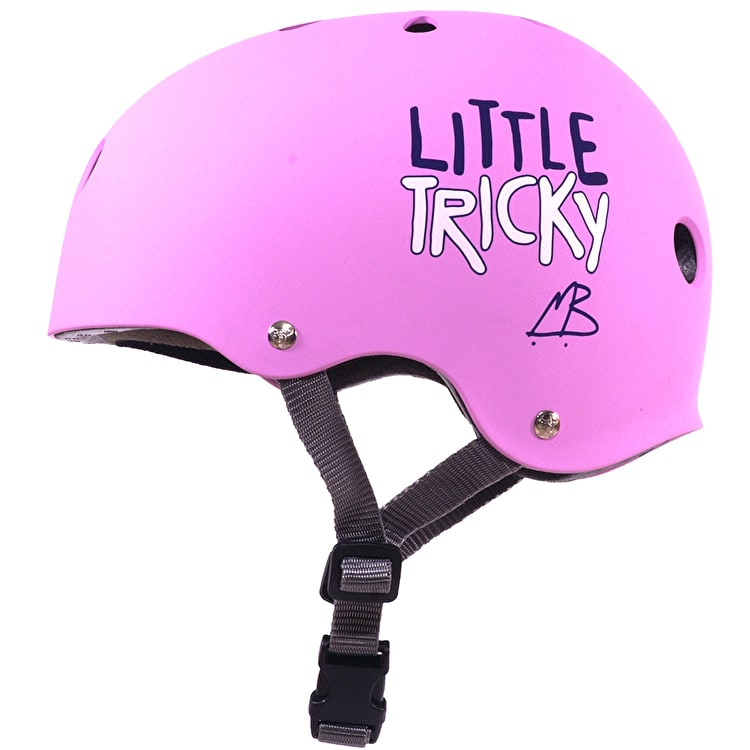 "Triple 8 ""Little Tricky"" Junior V2 Helmet Pink Rubber"