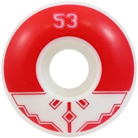 Fracture Uni Classic Skateboard Wheels - Red 53mm