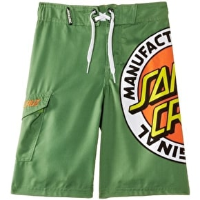 Santa Cruz MF Original Kids Boardie Shorts - Mint Green