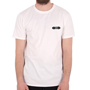 SkateHut SH X T-Shirt - White/Black