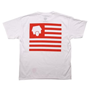 SkateHut Statehut Kids T-Shirt - White/Red