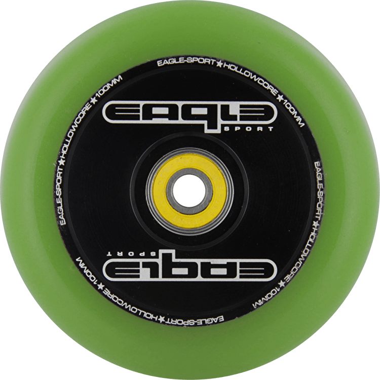 Eagle Hollow Tech Signature Core Green PU Wheel - 100mm