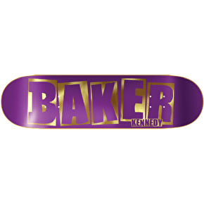 Baker Skateboard Deck - Brand Name Kennedy Purple/Gold 8.25