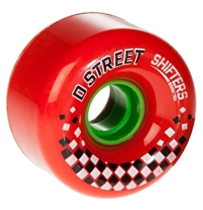 D-Street Shifters 78A 65mm Wheels - Red (4 Pack)
