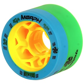 Reckless Morph Dual Durometer Derby Wheels-93A/97A- Green