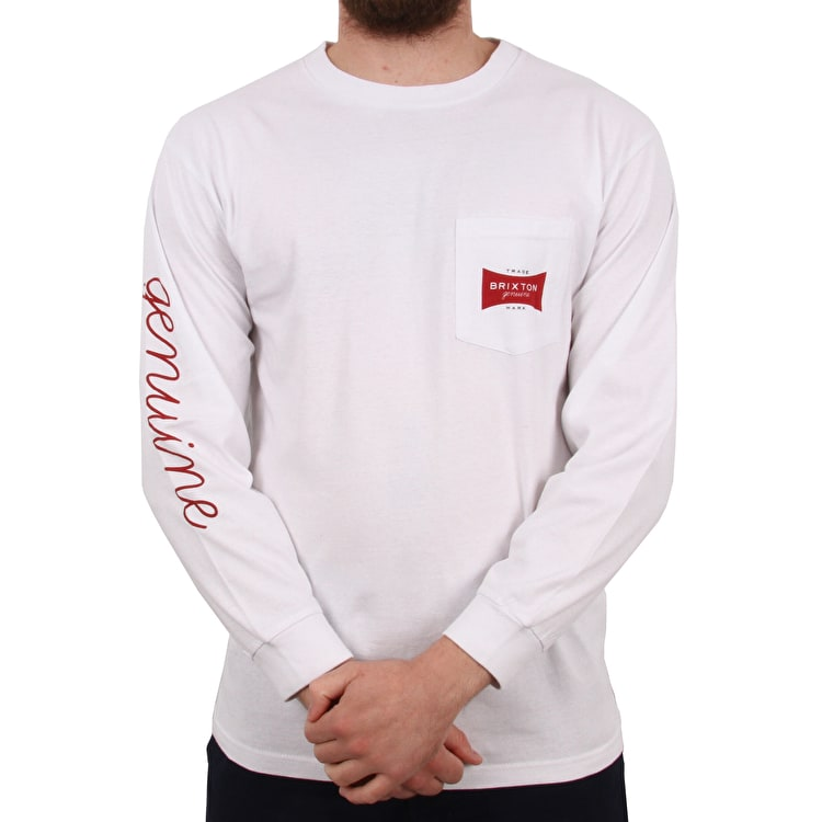 Brixton Ramsey II Long Sleeve Pocket T Shirt - White