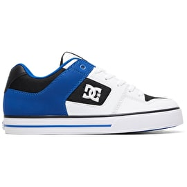 DC Pure Skate Shoes - White/Black/Blue