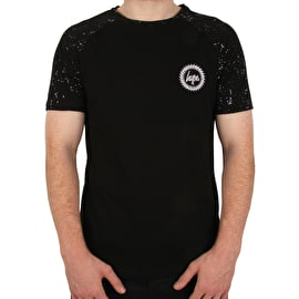 Hype Splat Raglan T Shirt - Black/Black