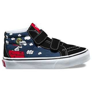 Vans x Peanuts SK8-Mid Reissue Kids Shoes - Flying Ace/Dress Blues
