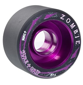 Sure-Grip Zombie Mid 62mm Quad Derby Wheels (4pk) 89A Purple