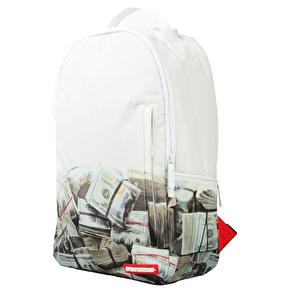 Sprayground White Money Rolled Backpack