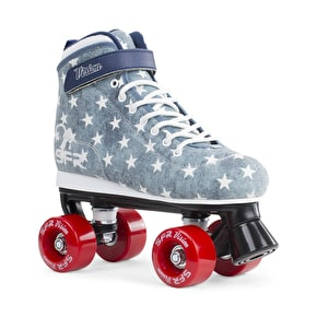 B-Stock SFR Vision Canvas Quad Roller Skates - Jeans UK 5 (Box Damage)