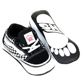 Vans Old Skool Crib Shoes - Black/White