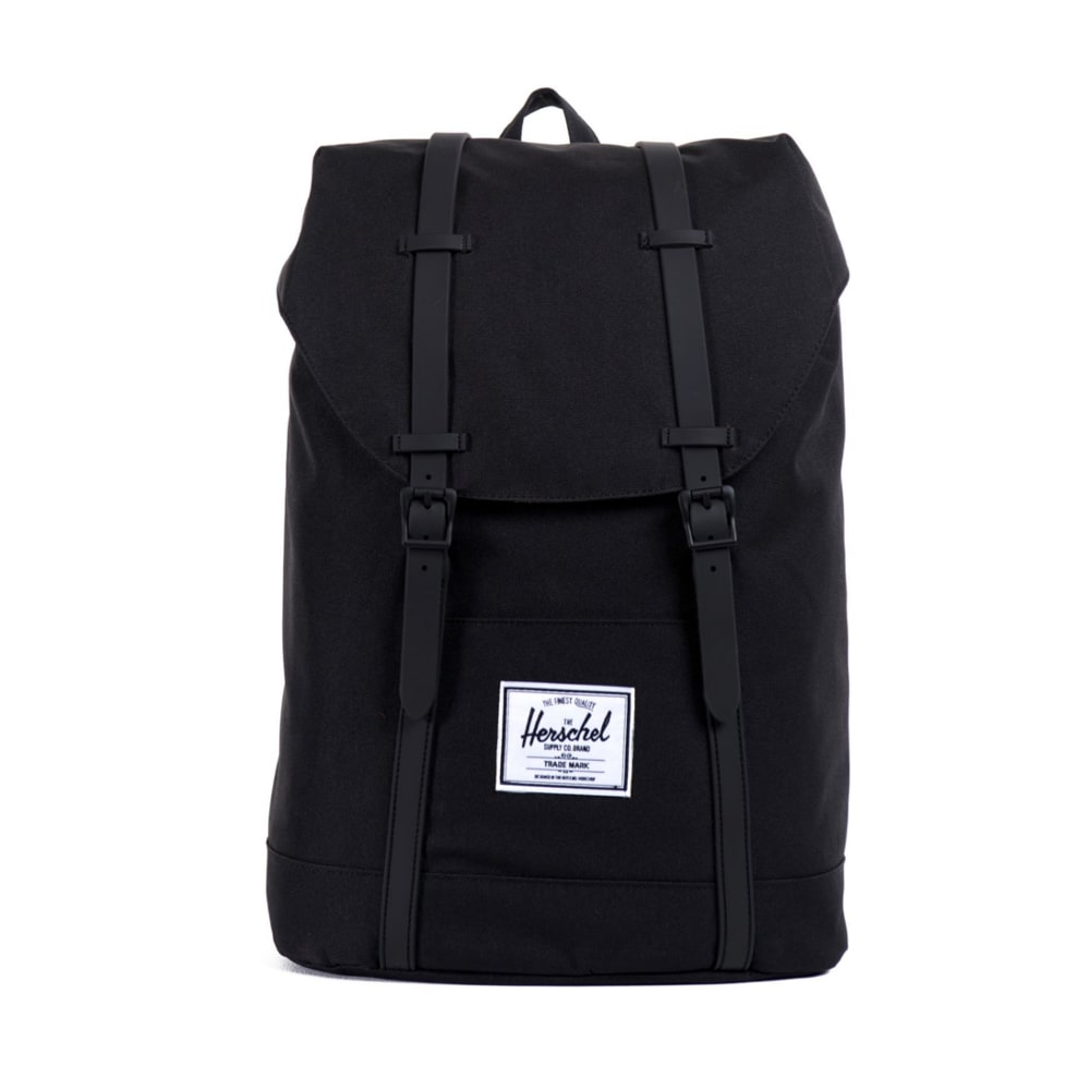 herschel retreat backpack black rubber herschel bags. Black Bedroom Furniture Sets. Home Design Ideas