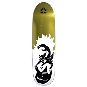 Welcome Creepers On Atheme Skateboard Deck - White/Gold Foil 8.8