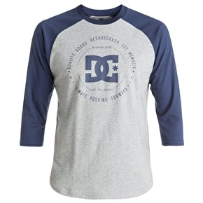 DC Rebuilt 2 Raglan T-Shirt - Grey Heather/Summer Blues