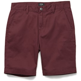 Etnies Essential Straight Chino Shorts - Burgundy