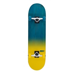 Rocket Fade Series Complete Skateboard - Blue/Yellow 8
