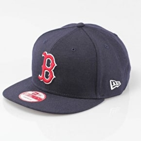 New Era MLB 9FIFTY Boston Red Sox Snapback Cap -  Navy / Red