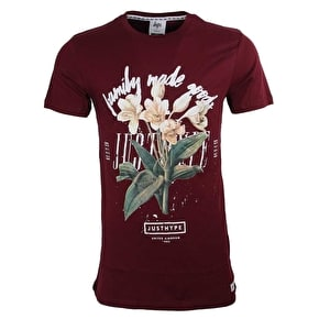 Hype Family Floral T-Shirt - Burgundy