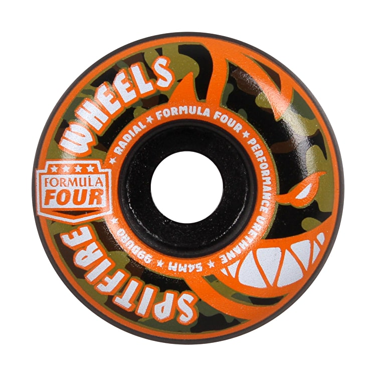 Spitfire Formula Four Covert Radial 99D Skateboard Wheels - Black 54mm