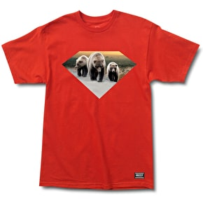 Grizzly x Diamond T-Shirt - Red