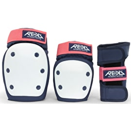 REKD Adult Heavy Duty Triple Pad Set - Blue/Pink