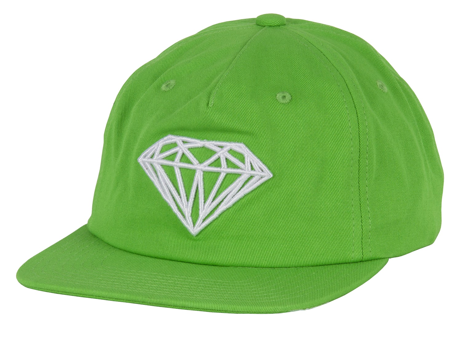 Diamond Supply Co Brilliant Unstructured Snapback Cap - Green ... 45073af3f2f3