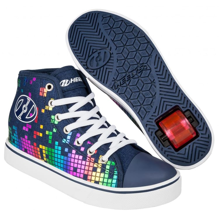 Heelys Veloz - Denim/Rainbow Block Print