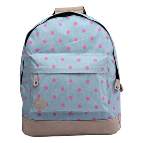 Mi-Pac Backpack - Denim Polka Pink
