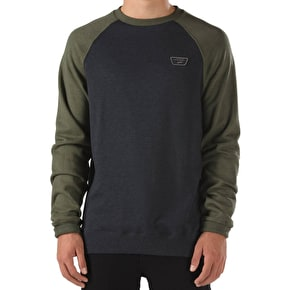 Vans Rutland Crew Sweater - Black Heather/Grape Leaf