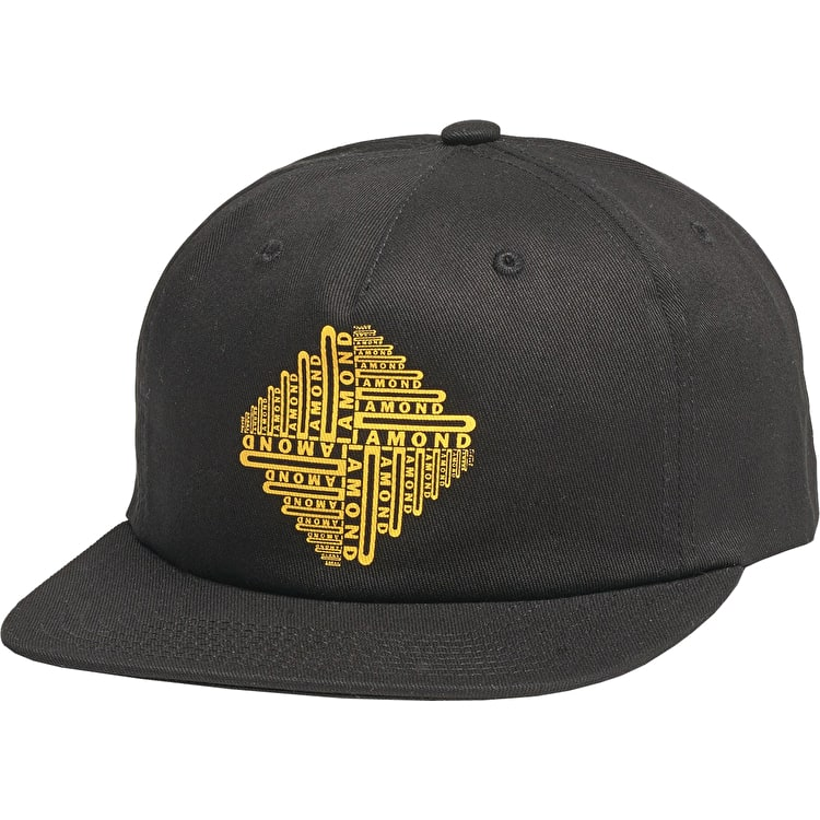 Diamond Formula 5 Panel Cap - Black