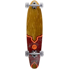 Mindless Raider V Complete Longboard - Natural/Maroon