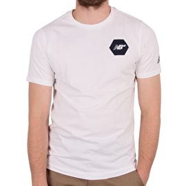 New Balance Hex T Shirt - White/Navy